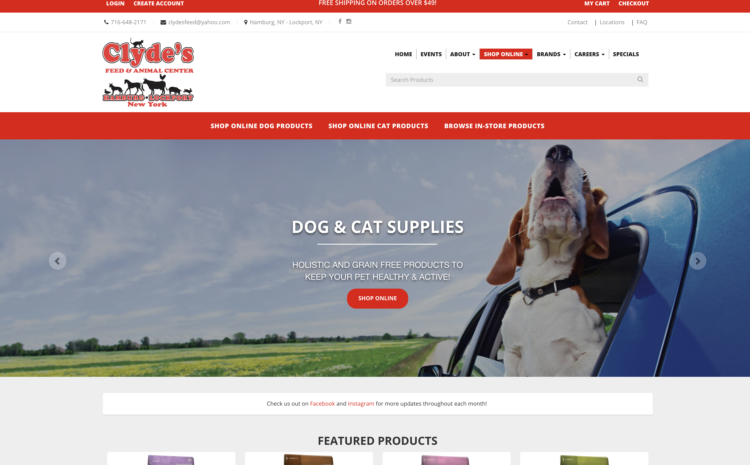 Clydes Feed Client - StandOut Advertising - Digital Marketing Agency